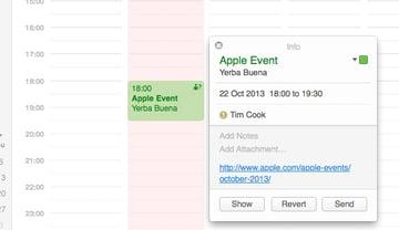 Adding important info to Calendar Event