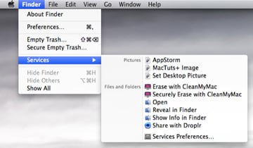 Services for an image file.