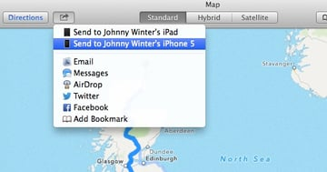 Send the Directions to your iPhone