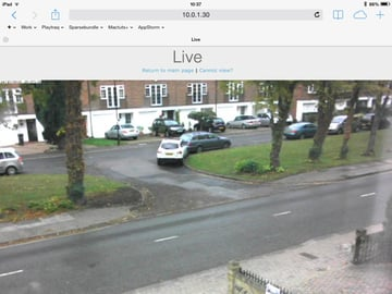 With the web server enabled I can view the camera via my iPad through Safari