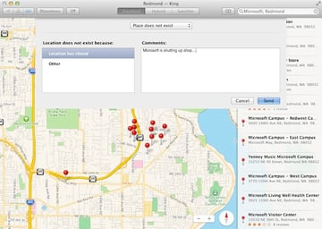 Sending map corrections to Apple