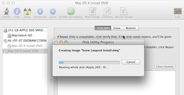 Ripping the disk image to your computer can take anywhere from 30 minutes to over an hour depending on the size of the files and the speed of your disk drive.