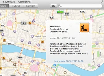 Realtime traffic data