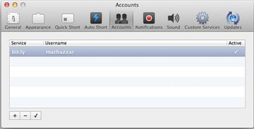 Add in as many different service accounts as you use.