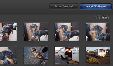 Click Import Photos.
