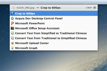 Using an Automator action to crop a picture