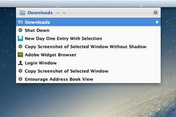 Opening the Downloads folder in Launchbar
