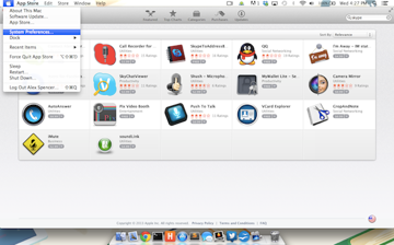 Accessing System Preferences