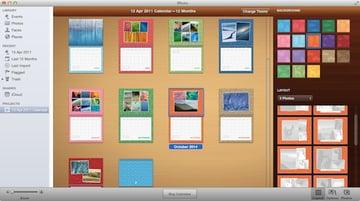 Customising the layout of calendar photos