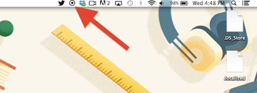 Stopping the QuickTime screen recorder