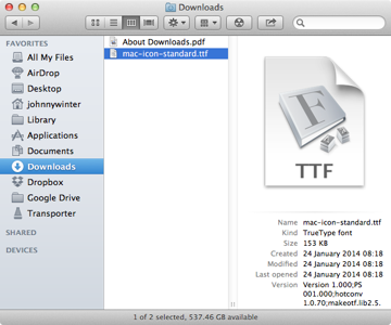 Download the .ttf font