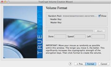 Using random mouse movements to generate TrueCrypts encryption keys