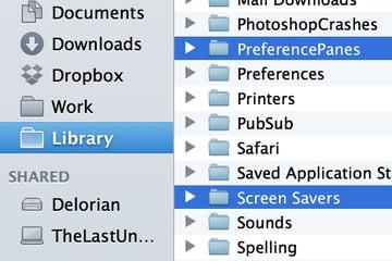 Finder Library Folder