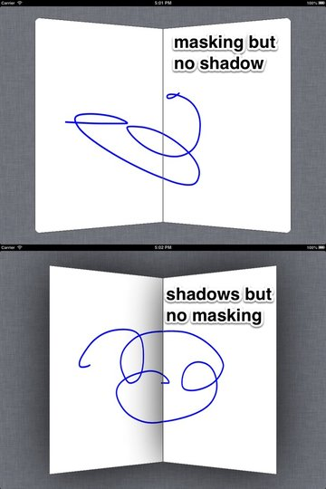 We can't get shadows if we use a mask