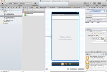 Customizing Table View Cells - Static Cells - Adding a Table View Controller