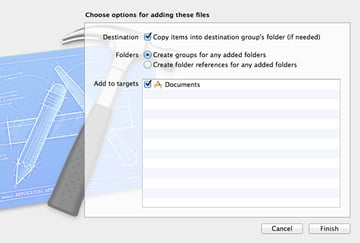 Previewing and Opening Documents with UIDocumentInteractionController: Adding the Sample PDF Document to the Project - Figure 5