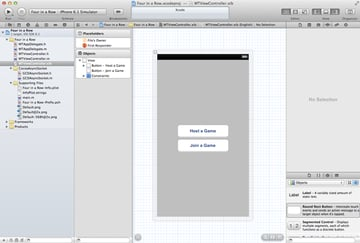Creating a Game with Bonjour - Client and Server - Creating the User Interface