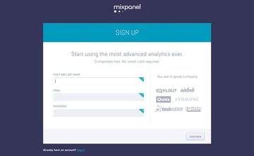 Mobile Analytics with Mixpanel: Creating a Mixpanel Account - Figure 6