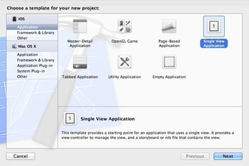 UIActionSheet: Screenshot of project window