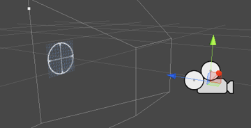 Camera with crosshair