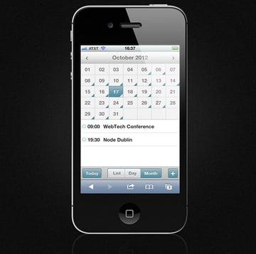 Mobile Event Calendar - Loaded with Data