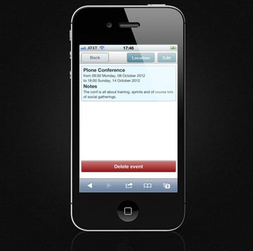Mobile Event Calendar - Location Button