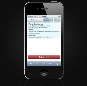 Mobile Event Calendar - Event Preview Screen