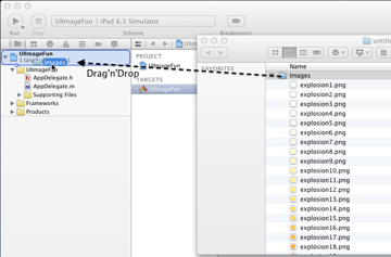 Drag and drop the Images folder into your project