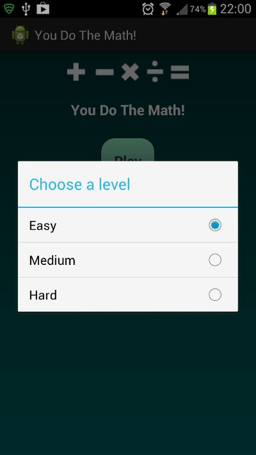 Choosing a Level