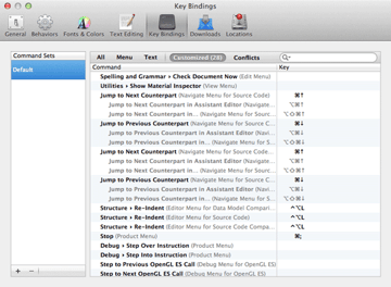 iOS Quick Tip: 5 Tips to Speed Up Your Development - Managing Key Bindings in Xcode's Preferences Window