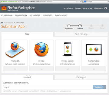 Firefox Marketplace - Submit Form