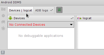 Android Studio DDMS