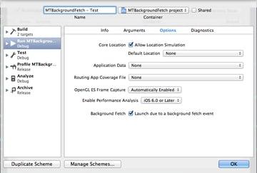 Figure 5: Background Fetch Scheme Enabled!