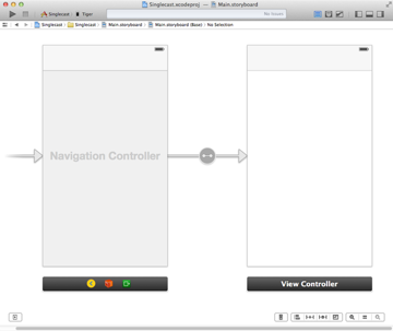 Embed the view controller in a navigation controller.