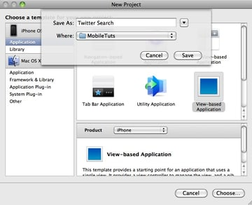 Creating a new JSON project in Xcode
