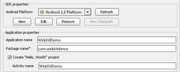 Android WebView: Create New WebView Project With WebKit