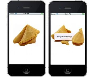 Final Fortune Cookie In iPhone Simulator