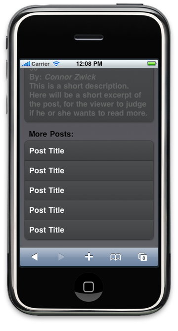 Post Title List