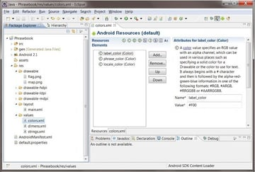Configuring Android Resources
