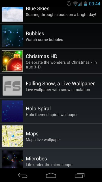 Android SDK - Live Wallpaper Settings
