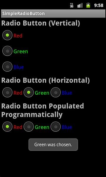Various Ways to Use Radio Controls