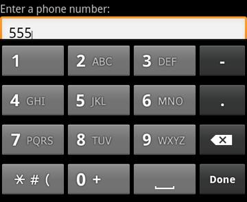 EditText control phone input method