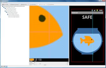 Fishbowl App in pixel perfect mode