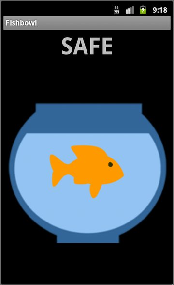 The screen of the Fishbowl App