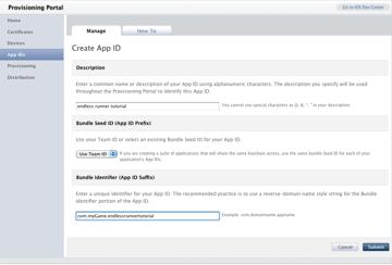 App ID Screen