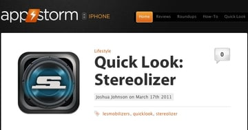 Mobile App review Website Screenshot