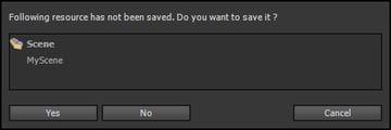 Save Prompt for MyScene