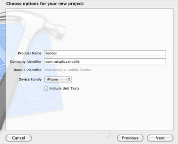 Create a Sender Project