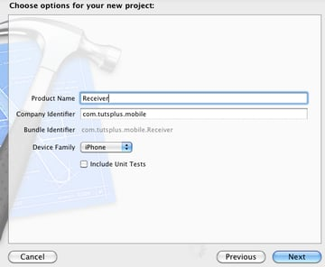 Create a Receiver Project