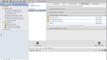 Adding Frameworks for Proejct